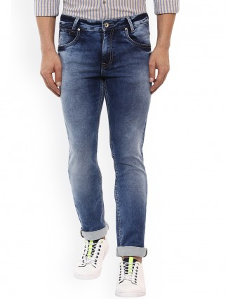 Mufti blue hue casual wear stylish denim jeans