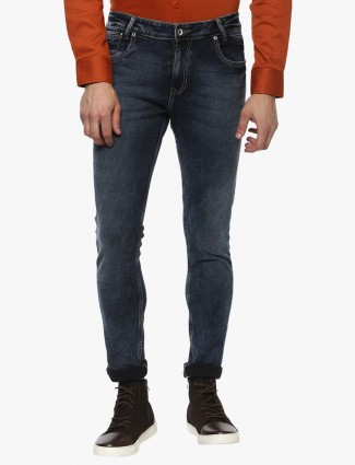 Mufti denim blue nerrow jeans