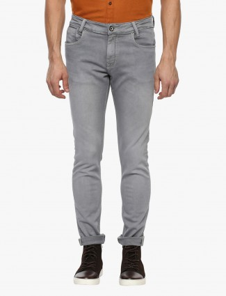 Mufti grey slim fit denim jeans