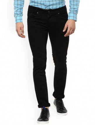 Mufti jet black color jeans