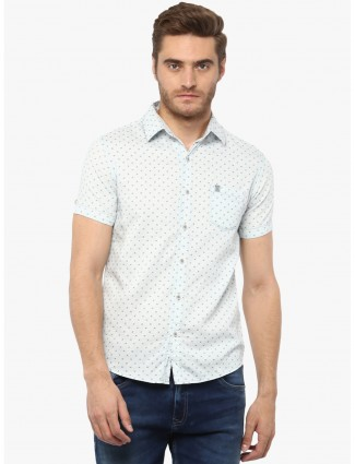 Mufti light blue cotton fabric shirt