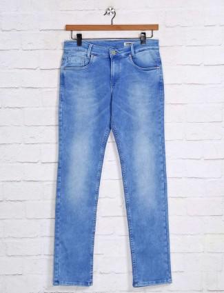 Mufti light blue mens denim jeans