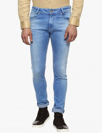 Mufti light blue simple jeans