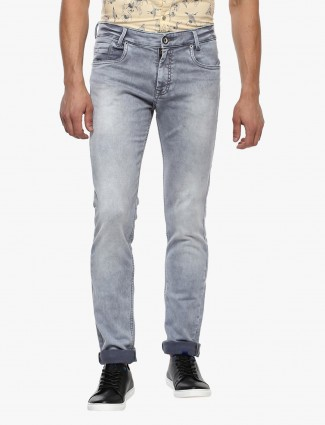 Mufti light faded grey jeans