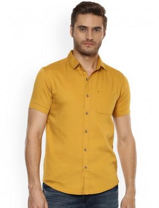 Mufti mustard yellow color shirt
