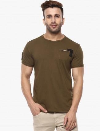Mufti olive cotton t-shirt