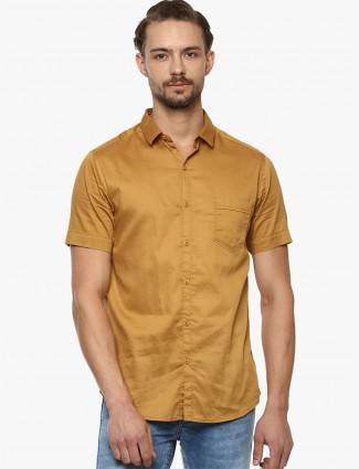 Mufti simple gold hue shirt