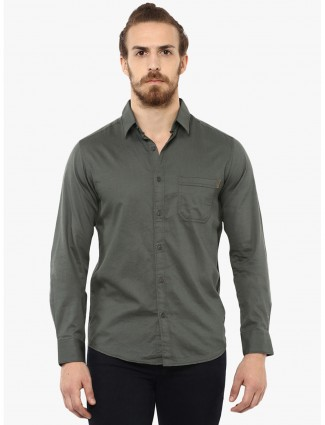 Mufti simple green shirt