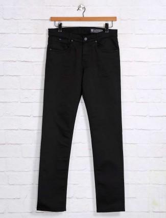 Mufti solid black nerrow fit jeans