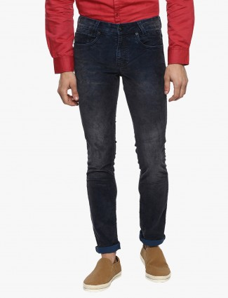 Mufti solid men navy jeans