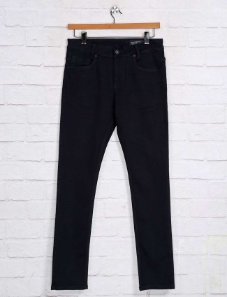 Mufti solid navy denim jeans for mens