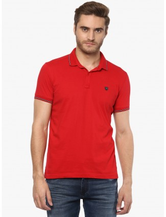 Mufti solid red t-shirt
