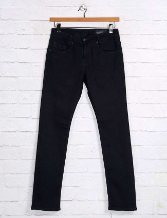 Mufti solid strong navy skinny fit jeans