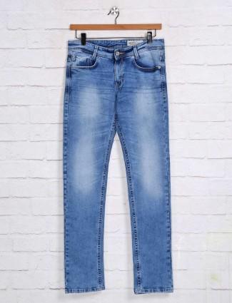 Mufti super slim fit light blue jeans