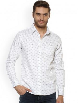 Mufti white color cotton shirt