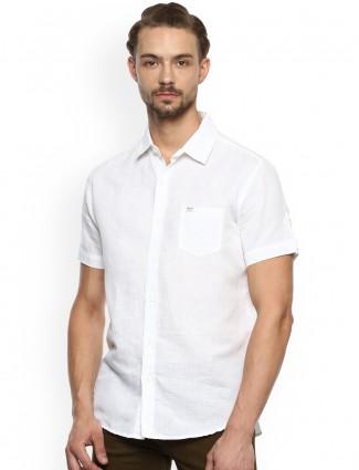 Mufti white cotton fabric shirt