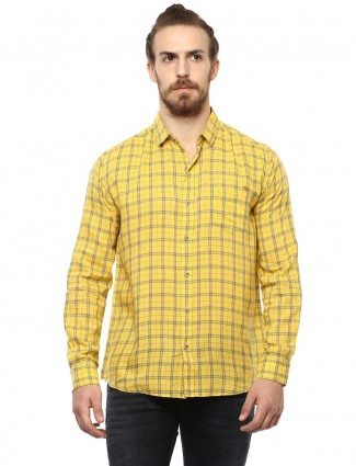 Mufti yellow cotton shirt