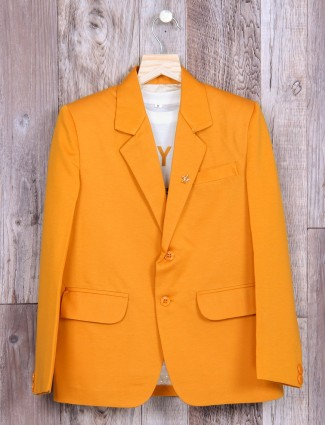 Mustard yellow party wear blazer