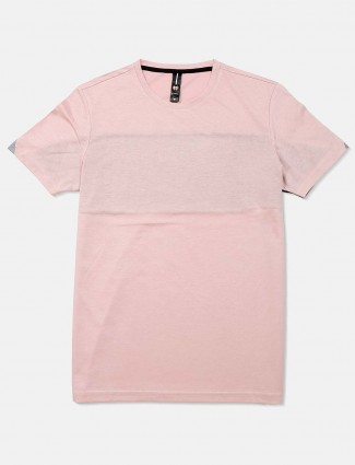 Mymera light pink printed cotton t-shirt