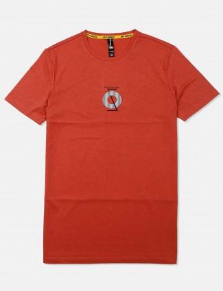 Mymera orange printed latest t-shirt