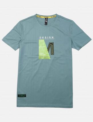 Mymera teal green printed t-shirt