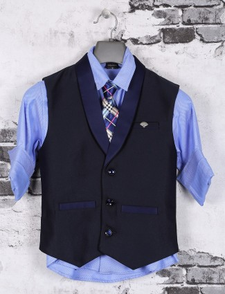 Navy and blue party wear waistcoat