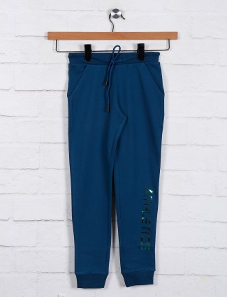 Navy casual wear solid jeggings