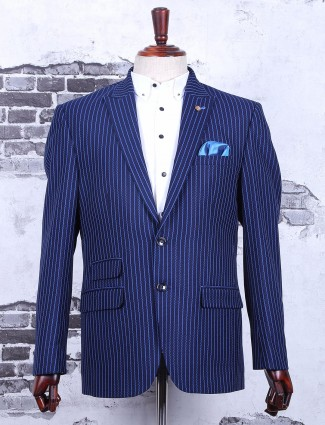 Navy classy terry rayon partywear blazer