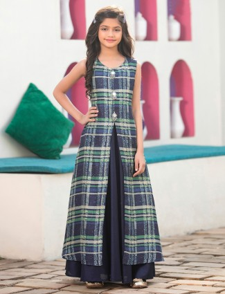 Navy color indo western suit