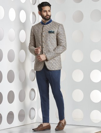 Navy color jodhpuri party suit
