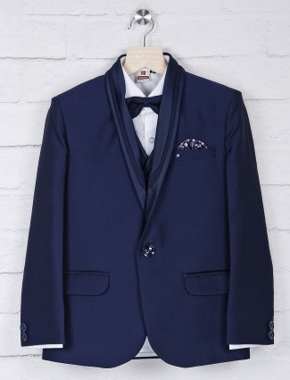 Navy color shawl collar terry rayon tuxedo suit