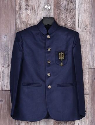 Navy color solid party wear blazer