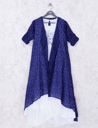 Navy colored cotton fabric kurti