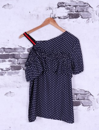 Navy cotton top for casual wear