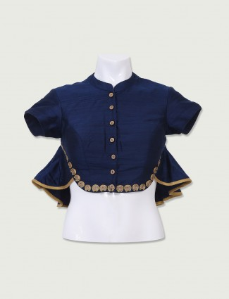 Navy designer ready made blouse
