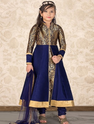 navy_designer_silk_anarkali_suit_14907885825506_blue_compressed Punjabi Dress for Kids- 30 Best Punjabi Outfits for Children