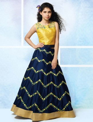 Navy hue designer lehenga choli for party