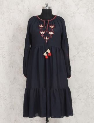 Navy hued punjabi style kurti