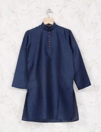 Navy party wear cotton kurta suit