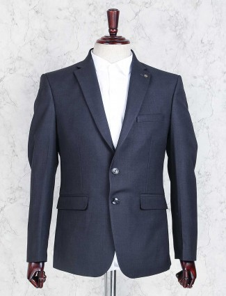 Navy terry rayon party coat suit