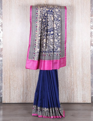 Navy wonderful silk saree