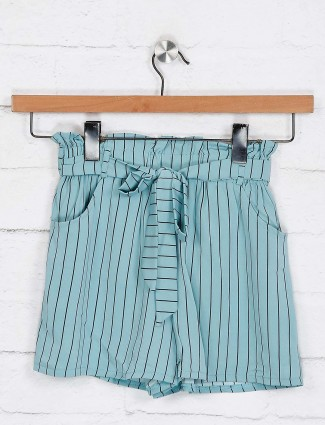 No Doubt comfortable green stripe shorts