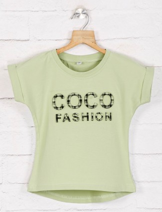 No Doubt light green cotton top