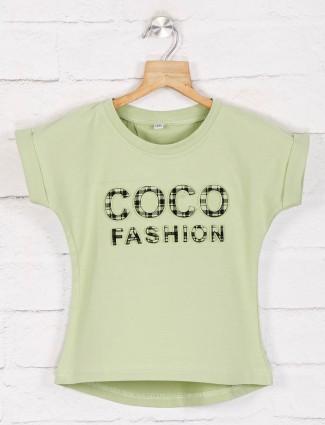 No Doubt light green cotton top