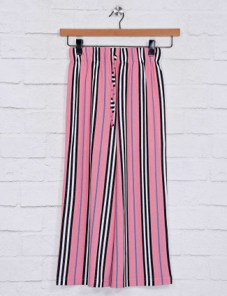 No Doubt stripe design pink cotton palazzo