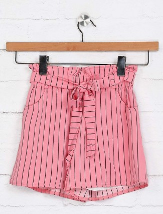 No Doubt stripe pink shorts