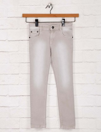 No Fear denim solid beige jeans