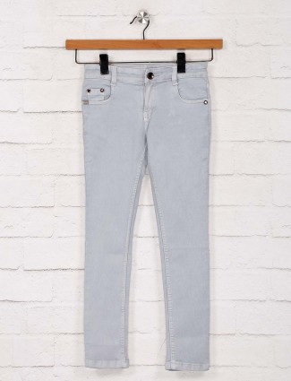 No Fear presenred light grey solid jeans