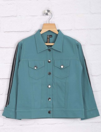 Nodoubt green colored cotton casual wear top