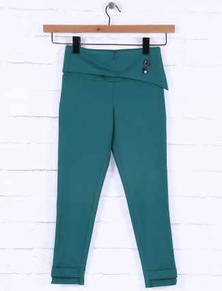 Nodoubt green hue casual jeggings in cotton